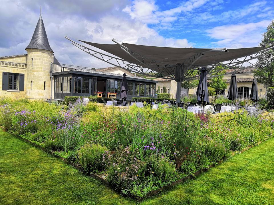 Flowering Terrace at L'Atelier de Candale at Château de Candale