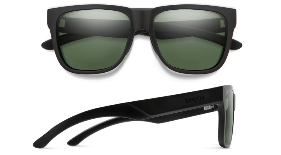 The polarized lenses are made from a virgin polycarbonate and castor oil-based material