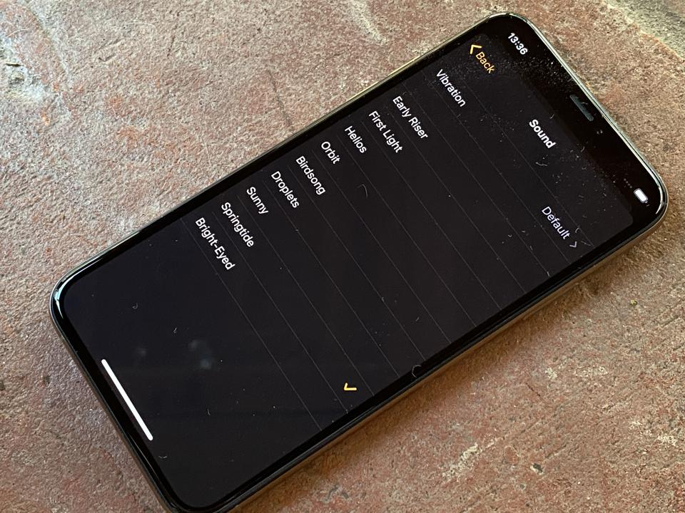 New alarm sounds for watchOS 7