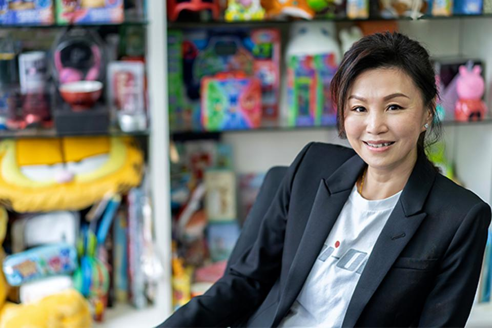 """Lovinia Chiu is optimistic that producing content will become an important driver of future growth. """"We are very cautious when we select production to invest in. It'll take time to become more significant, but the overall result will be very impressive going forward,"""" she says."""