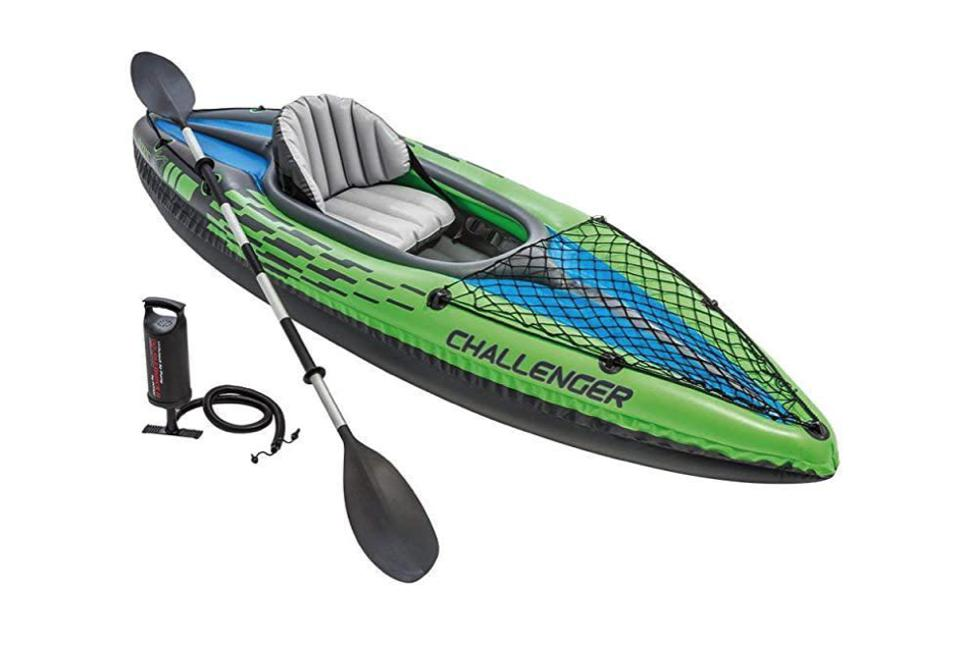 Intex inflatable kayak with pump and paddle