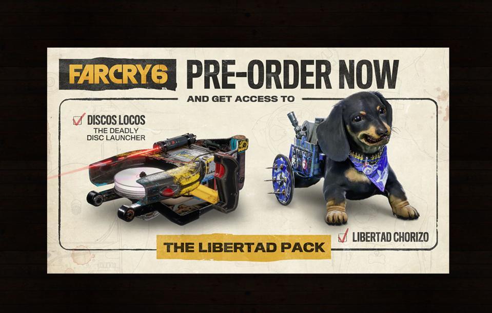 Pre-order bonuses for Far Cry 6