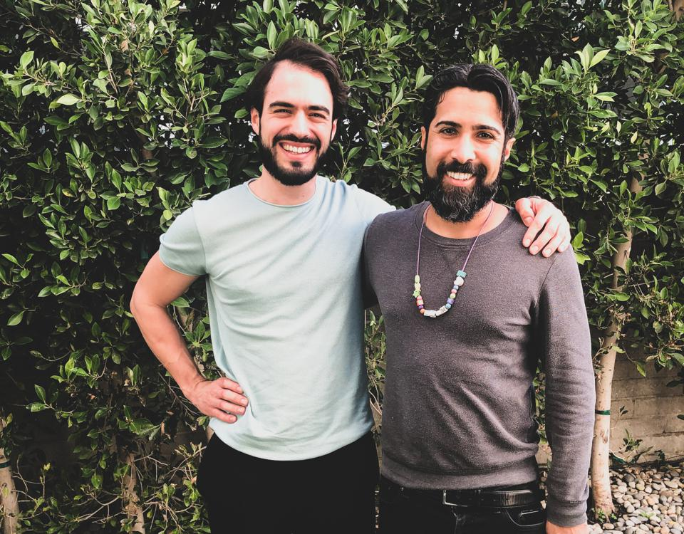Songwriter Savan Kotecha with Holberton co-founder Sylvain Kalache.