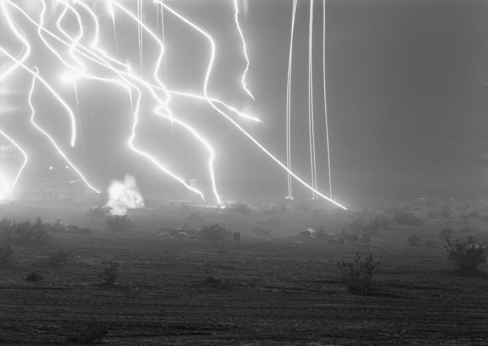 An-My Lê. American, b. 1960. Night Operations VII, 2003-2004. From the series 29 Palms gelatin silver print 26 1/2 in. x 38 in. (67.31 x 96.52 cm). Courtesy the artist and Marian Goodman Gallery. ©2020 An-My Lê.