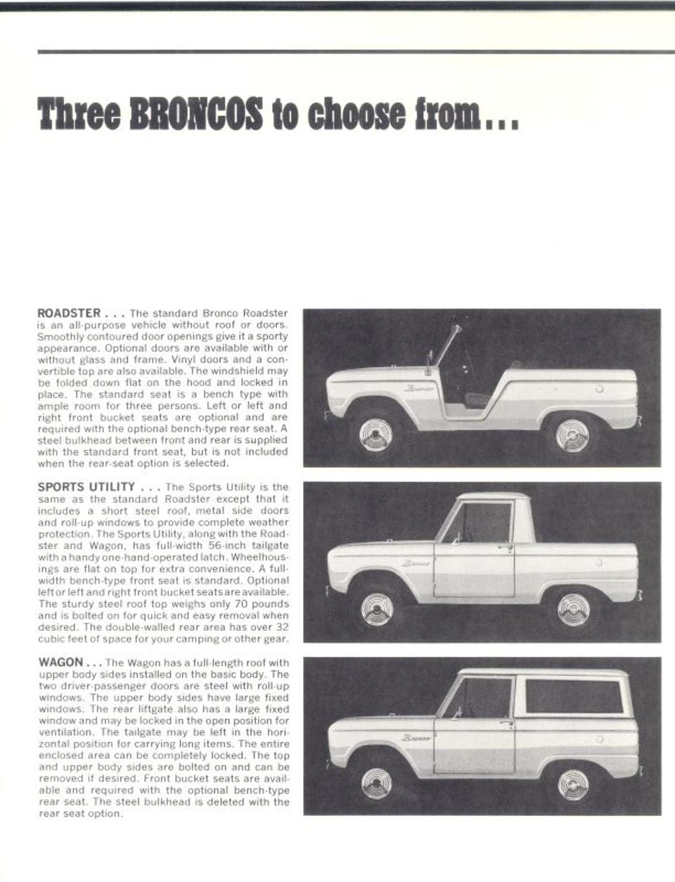 Ad for 1966 Ford Bronco