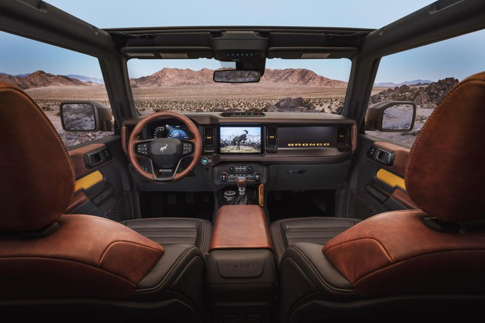 2021 Ford Bronco is available with 8 or 12 inch touchscreens