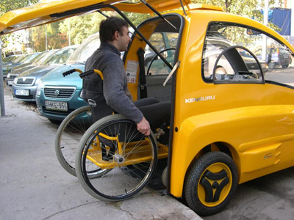 Car for wheelchair users.