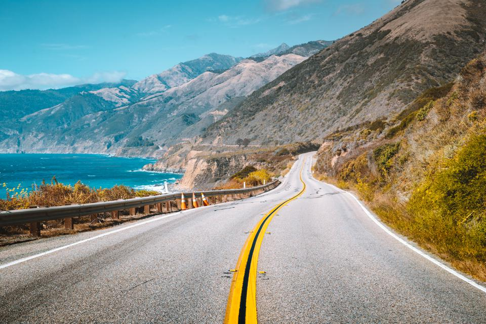 Famous Highway 1 at Big Sur, California Central Coast, USA