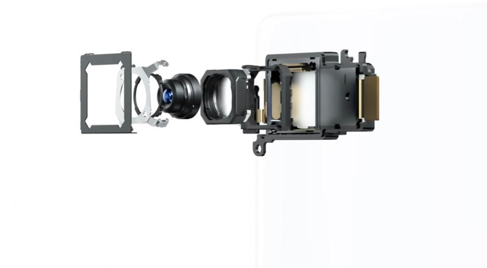 A rendering of Vivo's gimbal camera technology.