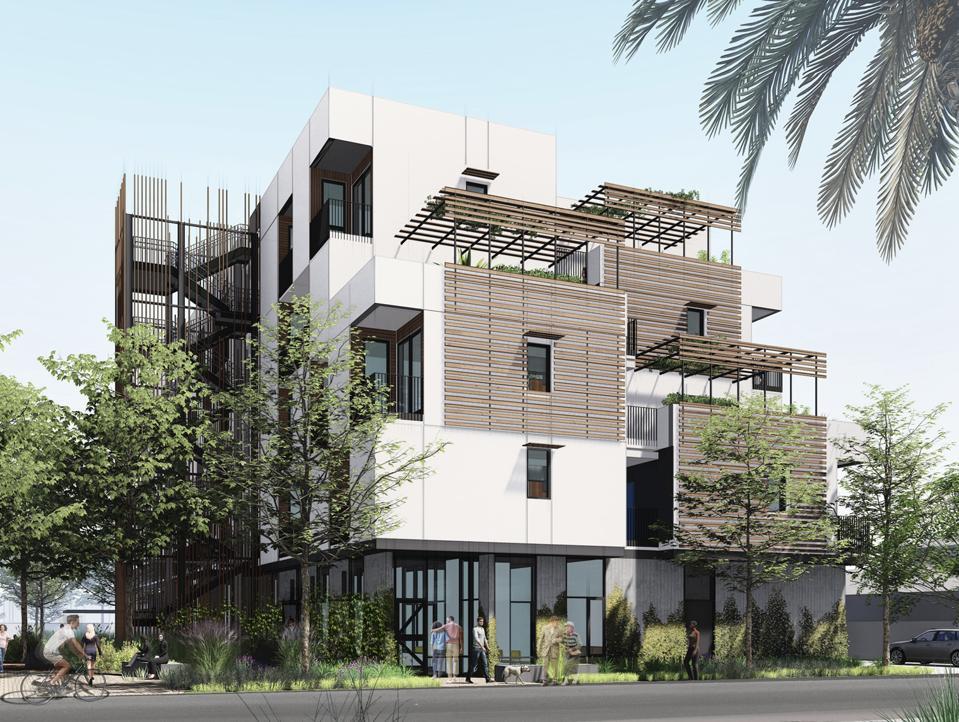 Rendering of Charities Housing Development Corporation project in San Jose