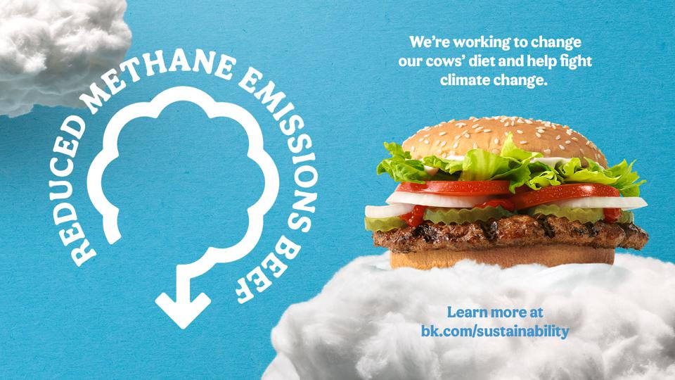 Burger King tests reduced methane emissions beef
