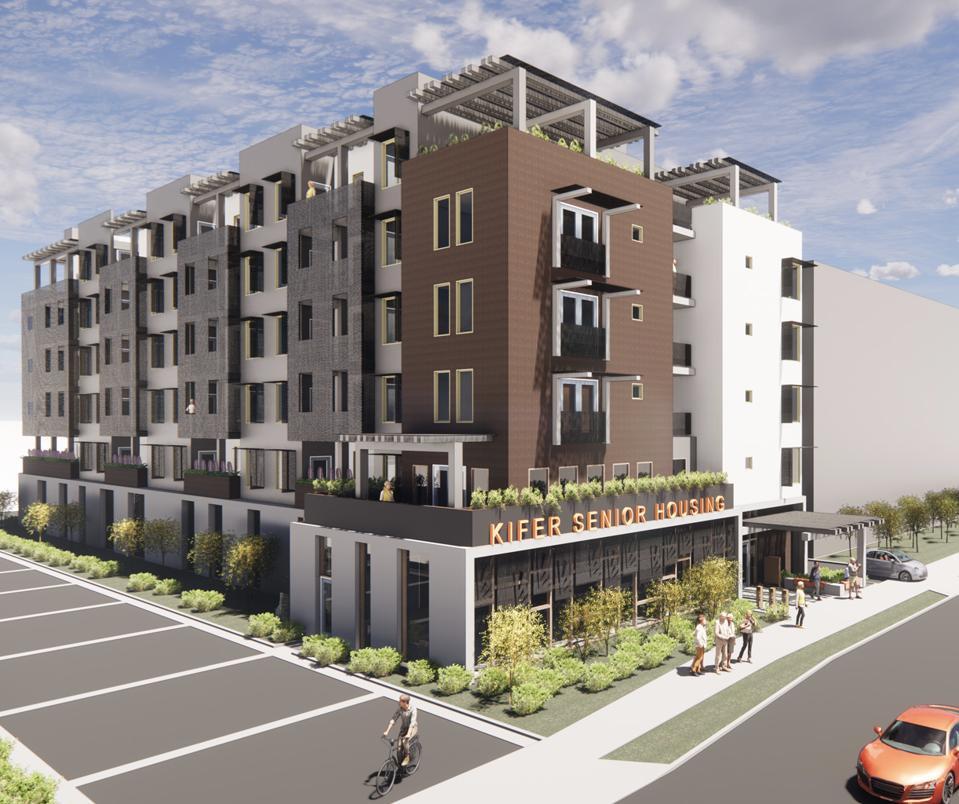 A housing development reserved for vulnerable seniors.