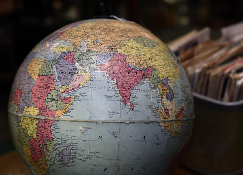 Vintage globe of the earth
