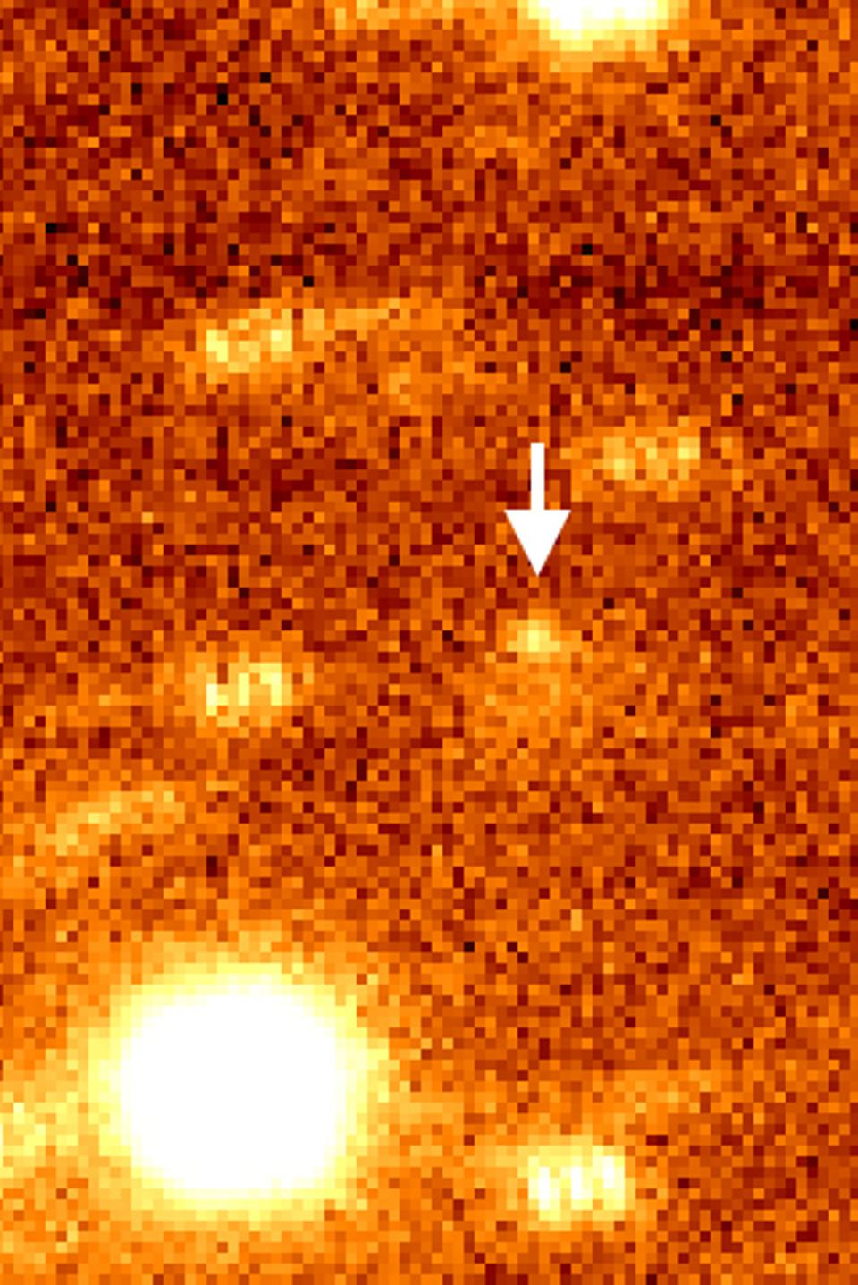 Image of 12P on June 17, 2020 with the comet marked by an arrow.