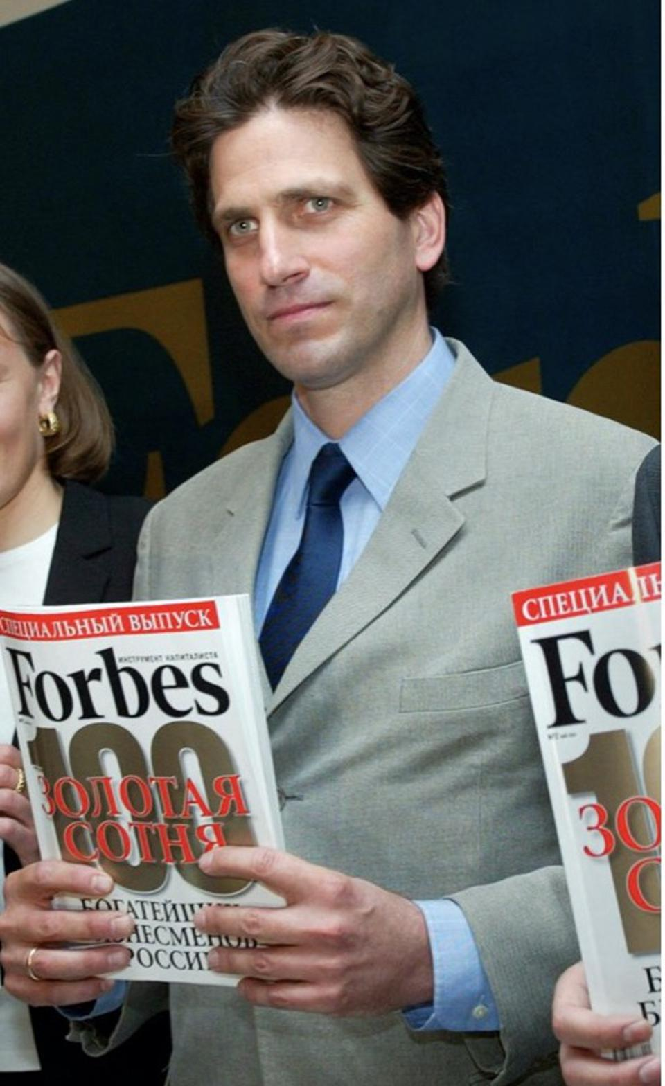 Paul Klebnikov, the editor of Forbes Magazine's Russian edition, at a Moscow news conference in May 2004