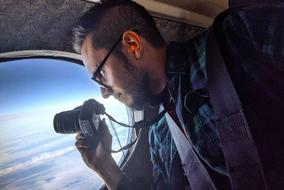 Honduran scientist Jose Martinez-Claros on an Pacific atmospheric convection mission.