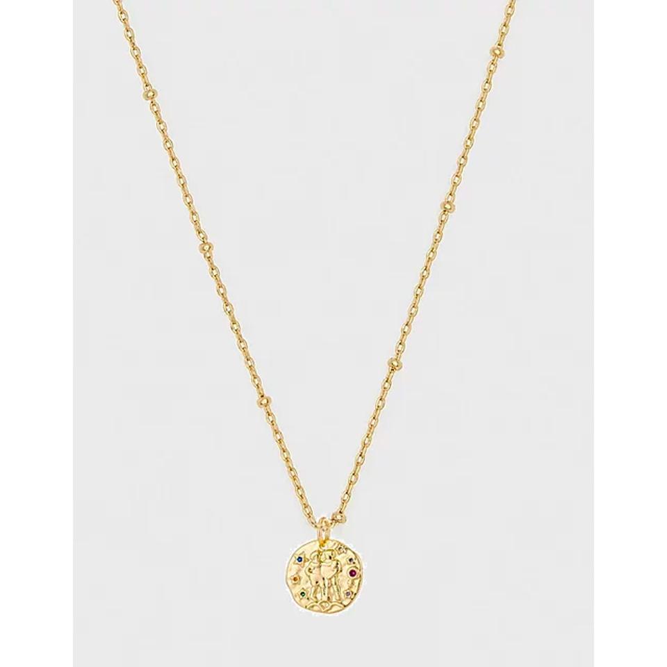 Isaiah Garza Coin Zodiac Medallion Gem Pendants
