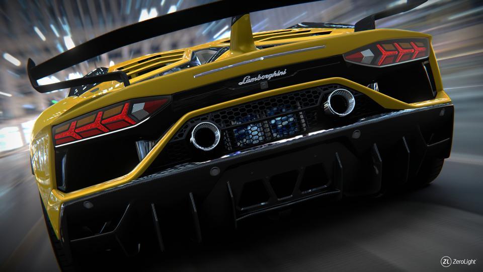 Render of a yellow Lamborghini Huracan using ZeroLight's 3D visualization platform.