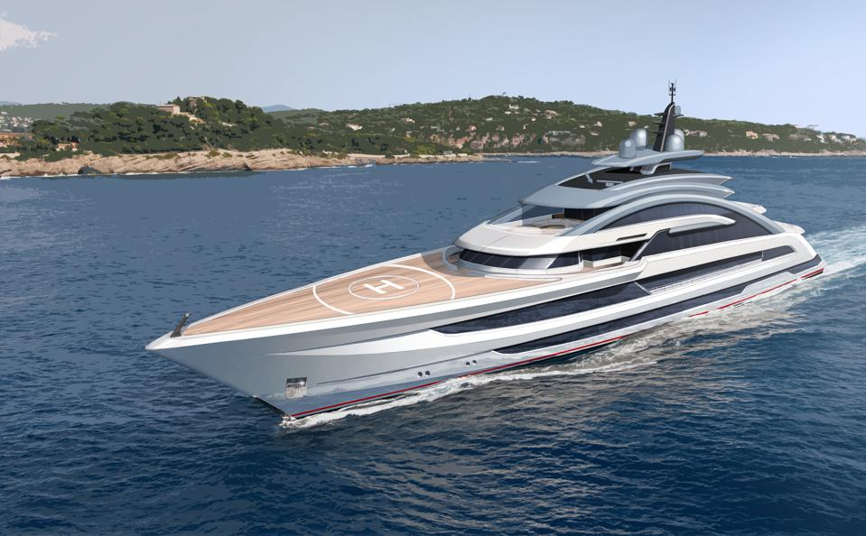 The Cosmos 80m superyacht, the largest yacht ever made by Heesen Yachts, sets sail.