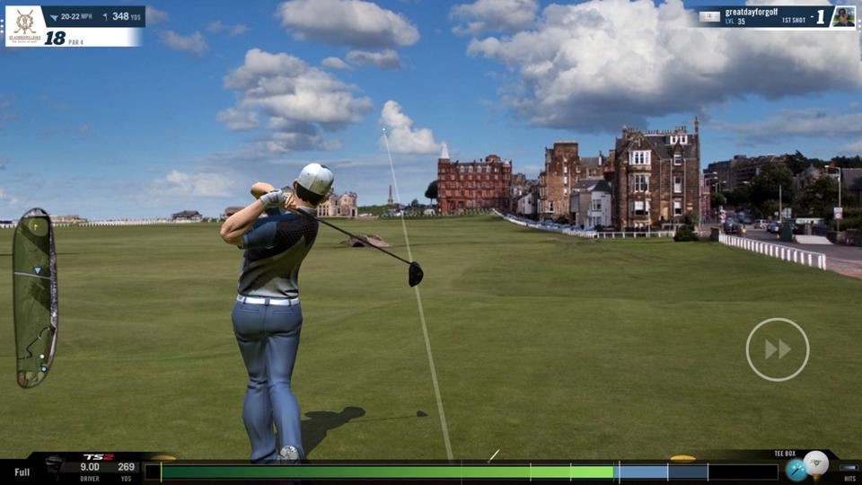 Image of WGT by Topgolf simulating The Open at St Andrews.