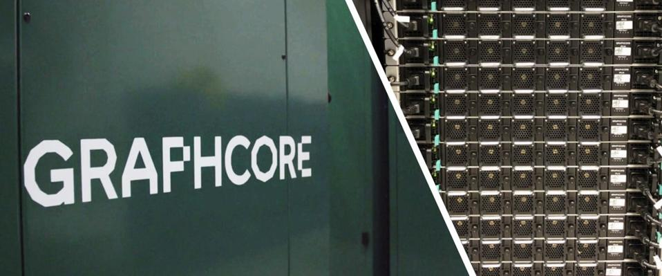 Graphcore logo on the side of a server system