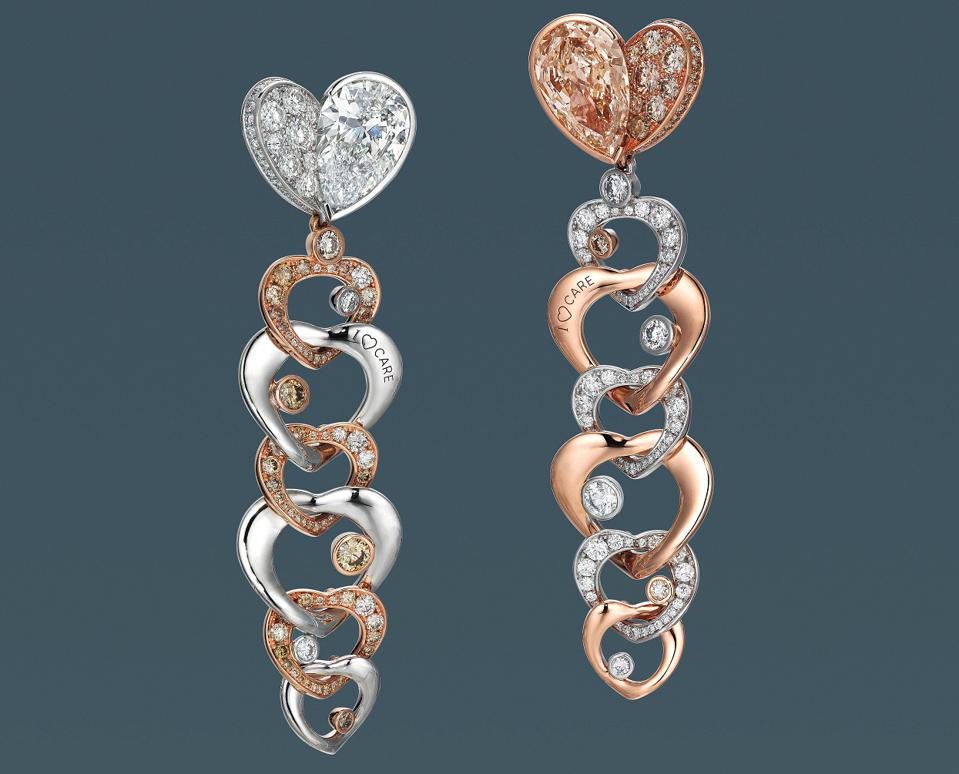 Alrosa Diamonds That Care by ANNA HU earrings that fetched $27,556 for charity