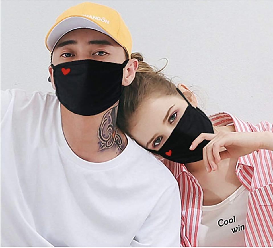 Unisex Personal Health 3-Layer Anti Dust Breathable Face Bandanas Non-Woven Filter Covers for Office,Outdoor,for Women Men