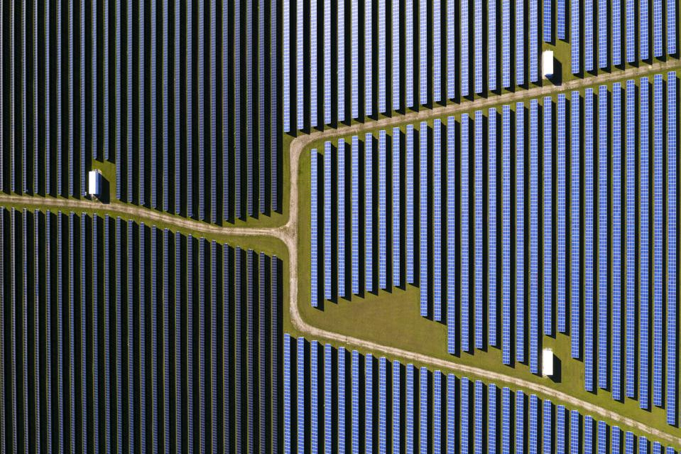 Aerial view of solar farm as metaphor for managing customer service. Yeah, it's a stretch.