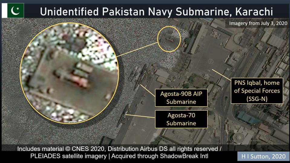 The unidentified Pakistani Navy submarine is based in Karachi