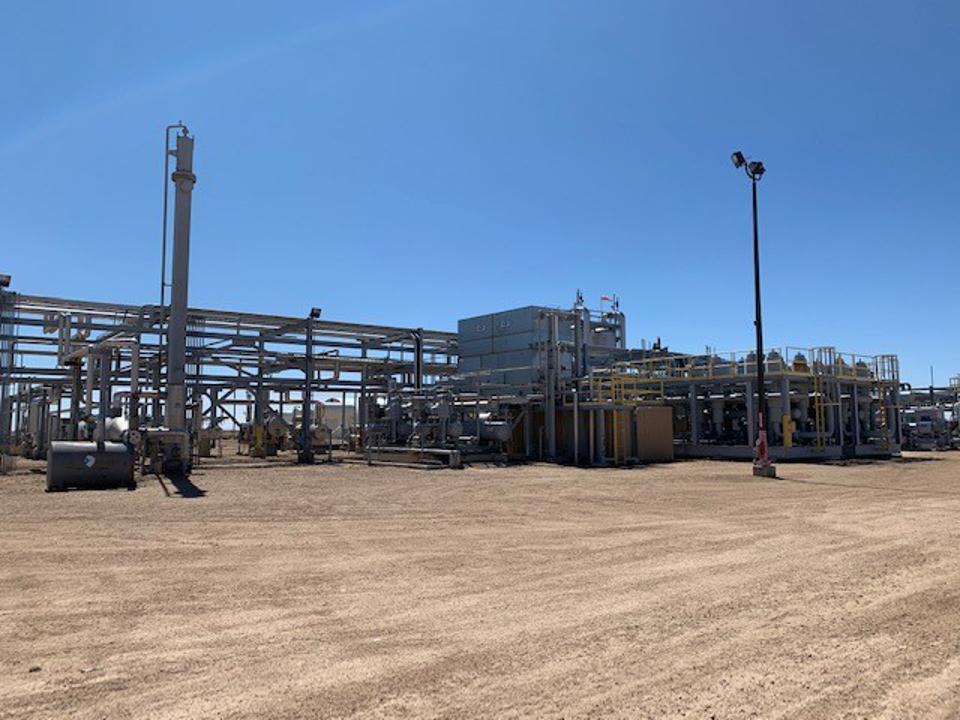 A natural gas plant operated by Maverick Natural Resources.