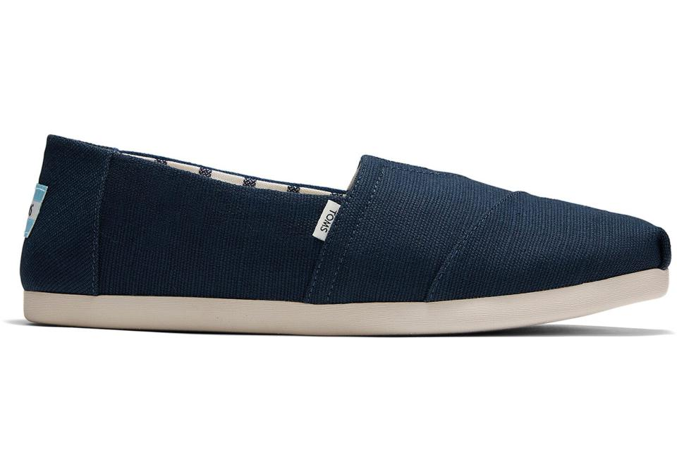 A pair of navy blue slip-ons goes with just about everything this summer. Easy and stylish.