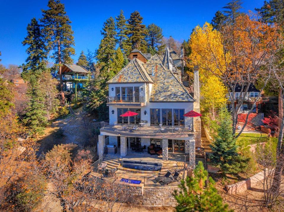 Celebrity Dining: Sammy Hagar, Van Halen, Lake Arrowhead, French Château, luxury precise property