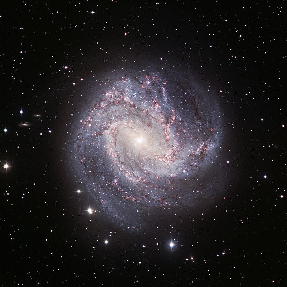 The Southern Pinwheel Galaxy, M83, displays many features in common with the galaxy.