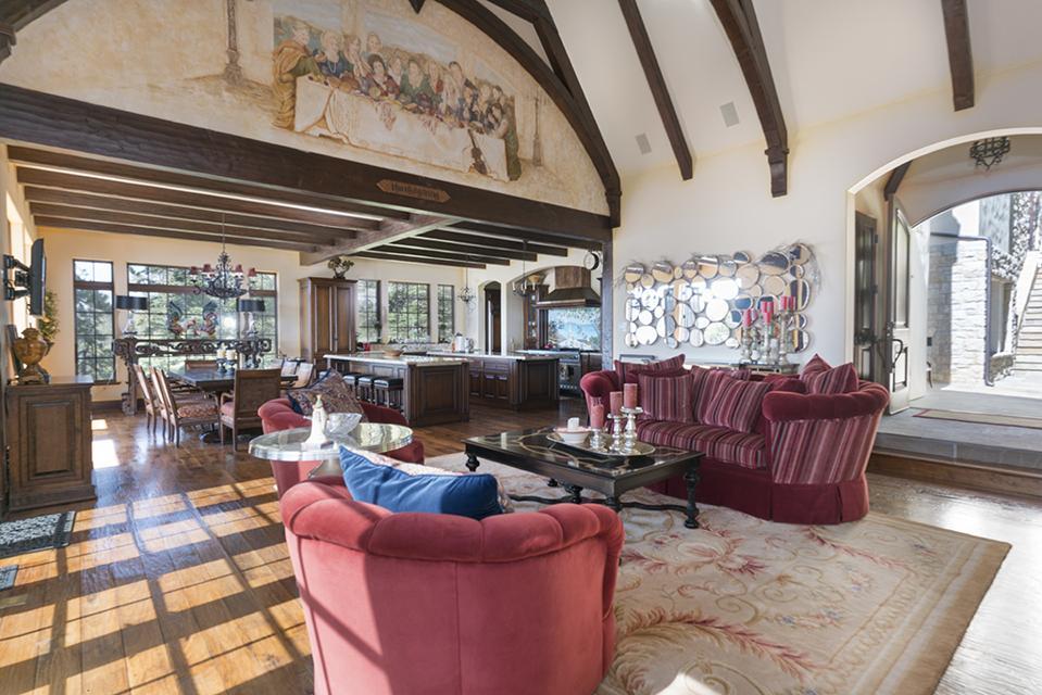 Celebrity Dining: Sammy Hagar, Van Halen, Lake Arrowhead, California, French Château, mountain, village