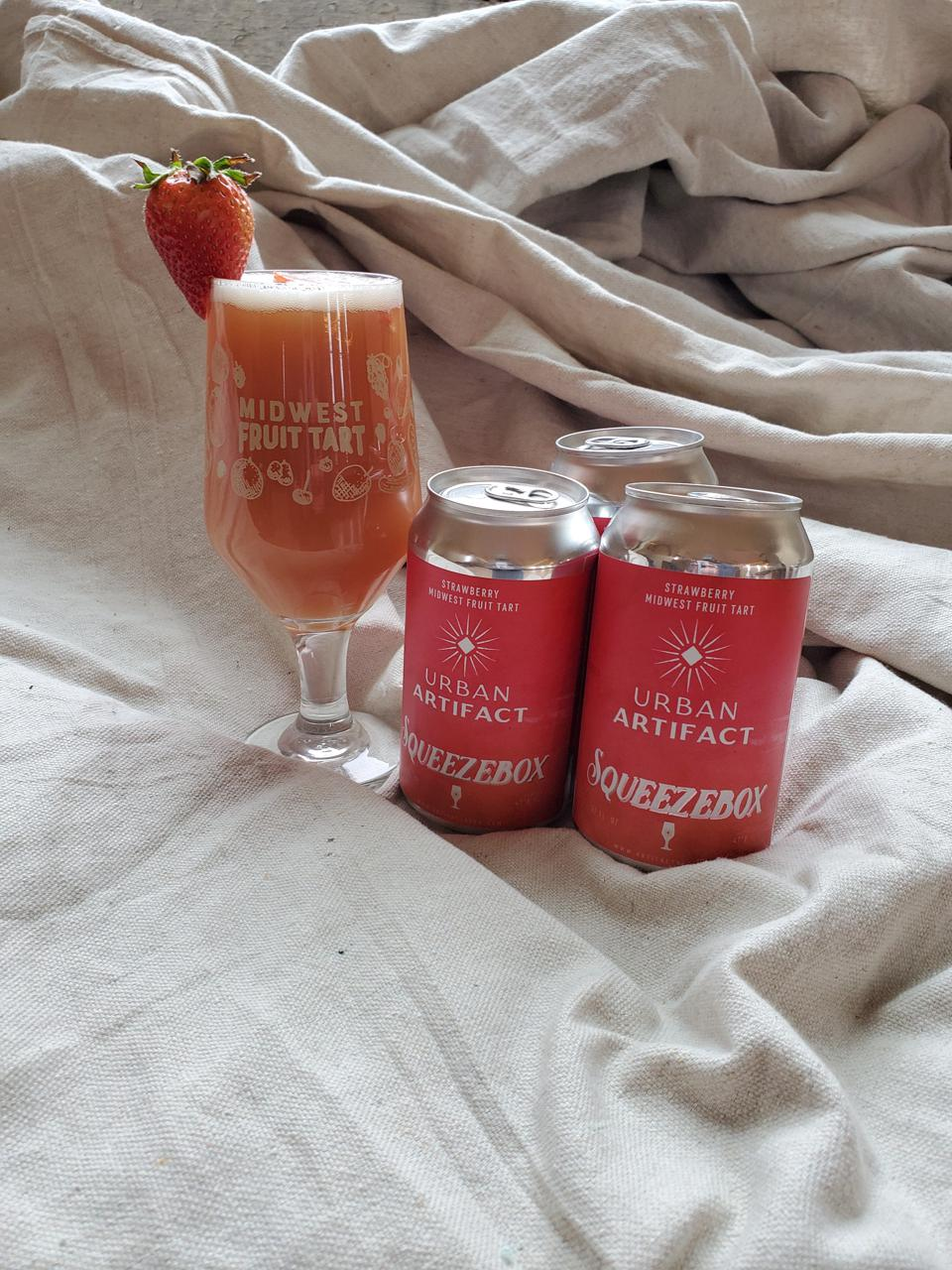 Cincinnati's Urban Artifact Brewing toes the line between beer and straight fruit puree in its strawberry-filled Squeezebox, a favorite of Tavour beer expert Talia Shapiro.