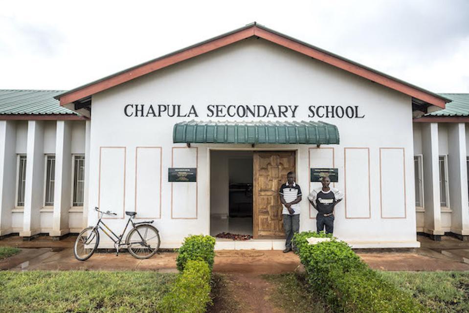 Chapula Secondary School in Zambia's Copperbelt Province.