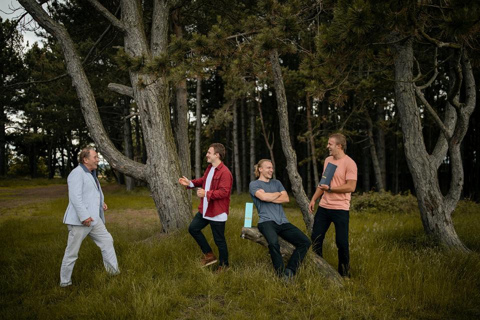 Charlie MacLean with Lachlan, Jamie and Ewan