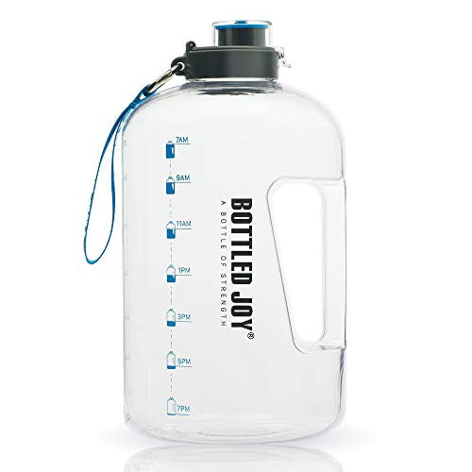 Leak Proof Water Bottles With Times To Drink For Fitness /& Sports Hydration Nation Water Tracker Bottles 32oz Gray Water Bottle With Time Marker 32oz Water Bottle With Straw For Drinking