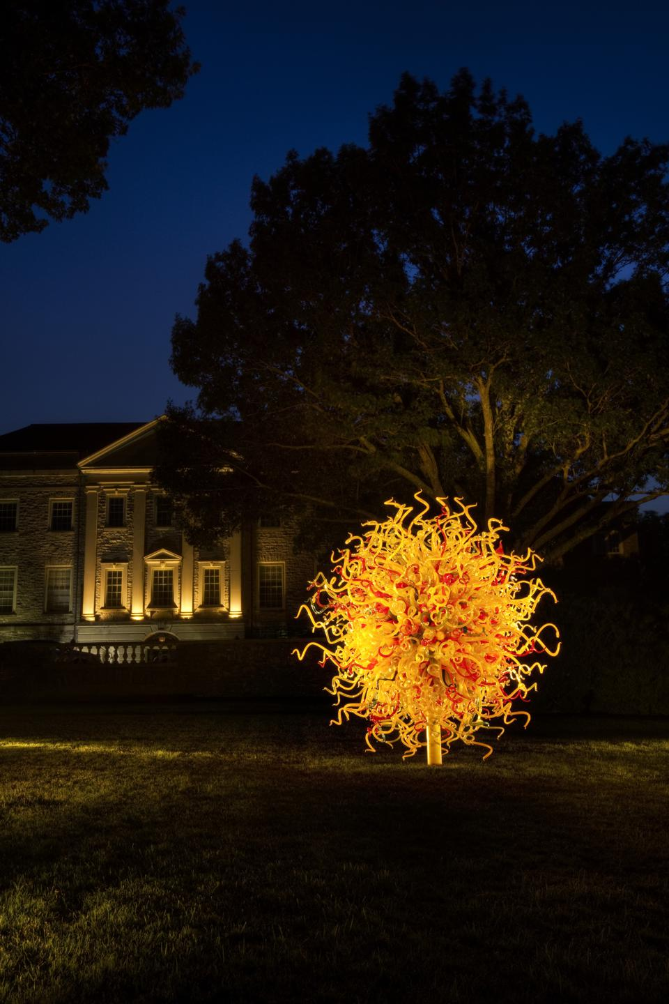 Dale Chihuly ″The Sun,″ 2003 14½ x 14 x 14.' Cheekwood Botanical Garden and Museum of Art, Nashville, installed 2010.