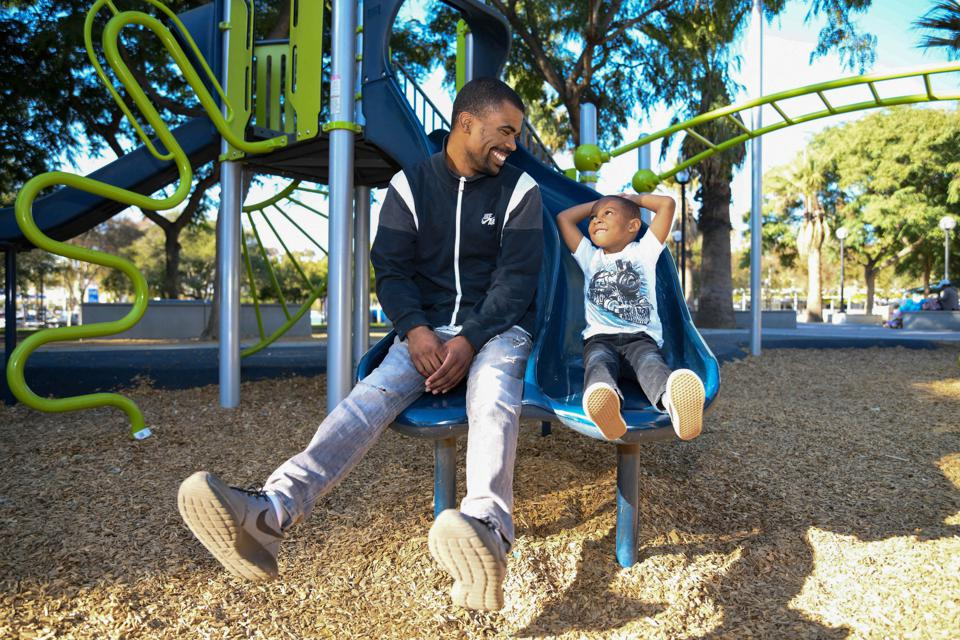 A youth and his Friend from Friends of the Children–Los Angeles chapter.