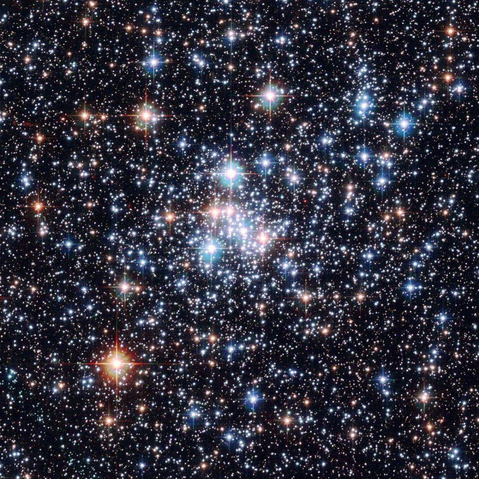 The open star cluster NGC 290, imaged by Hubble.