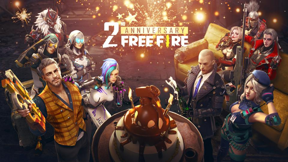 Sea's mobile game Free Fire 2nd Anniversary.