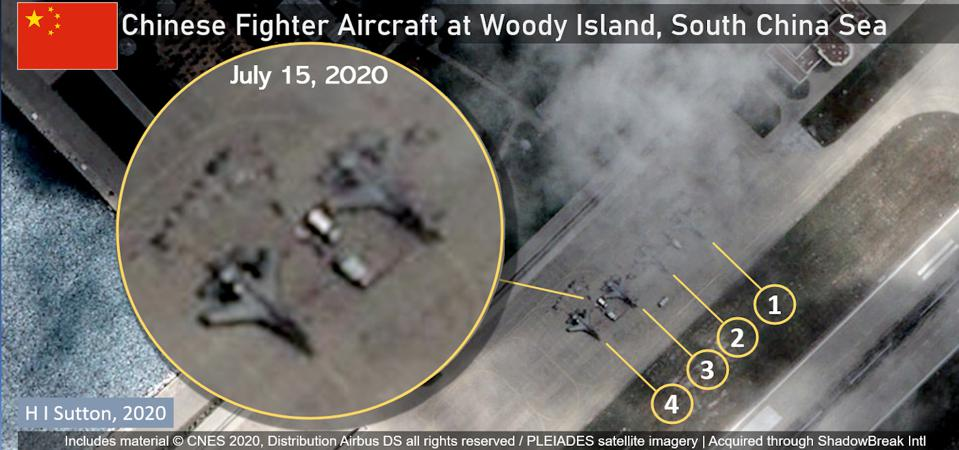 Chinese fighter aircraft deployed to the disputed Woody Island in South China Sea