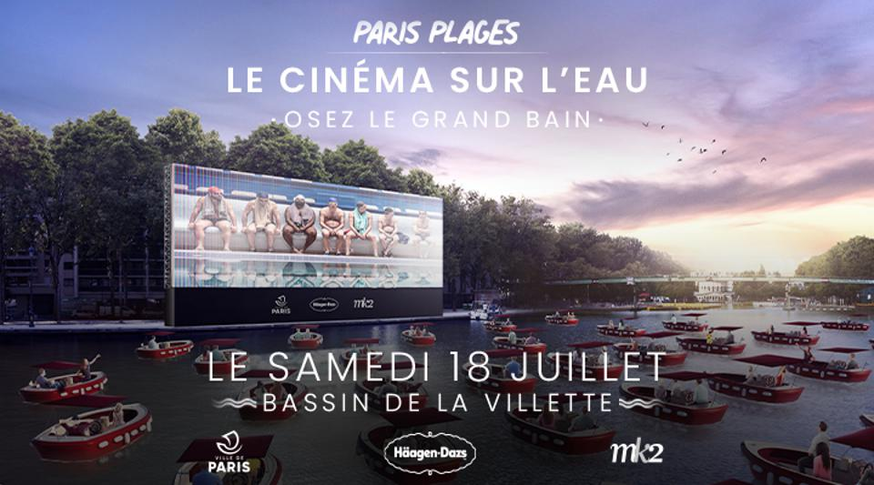 The city of Paris will show a movie on a giant screen on July 18 that people can watch from electric boats on the Seine.