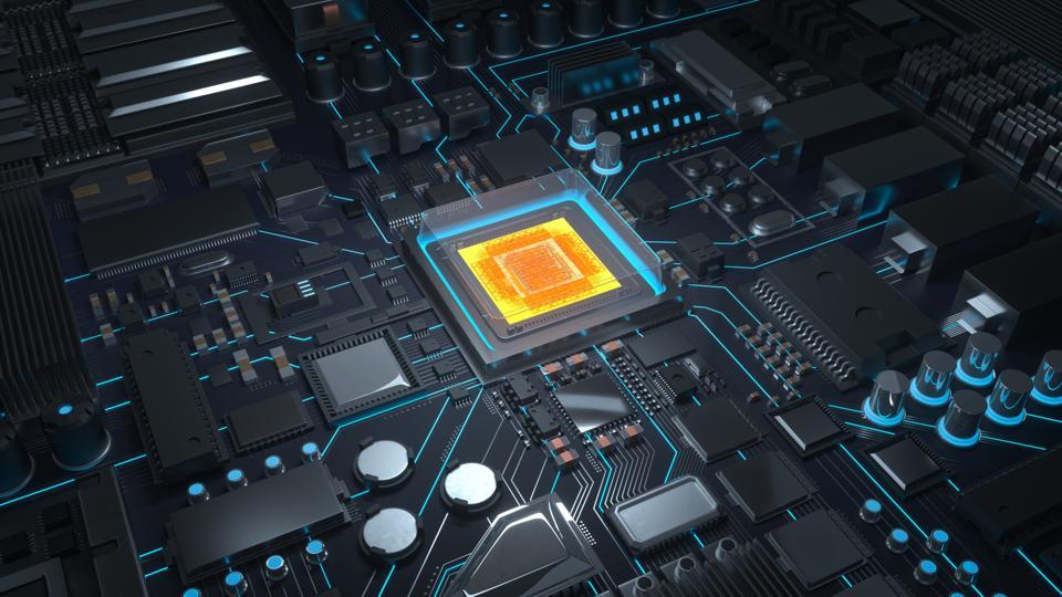 CPU with circuit board