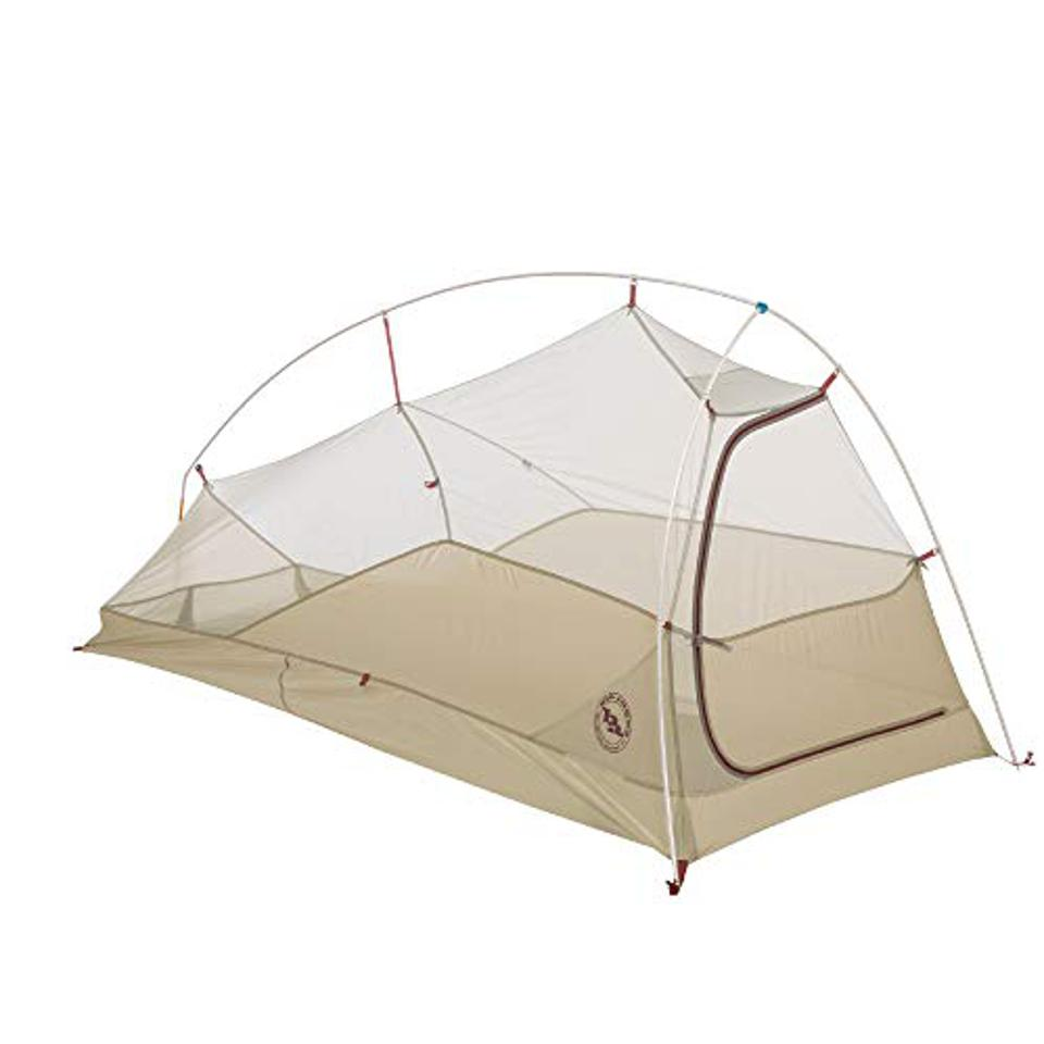 A lightweight one-person tent.