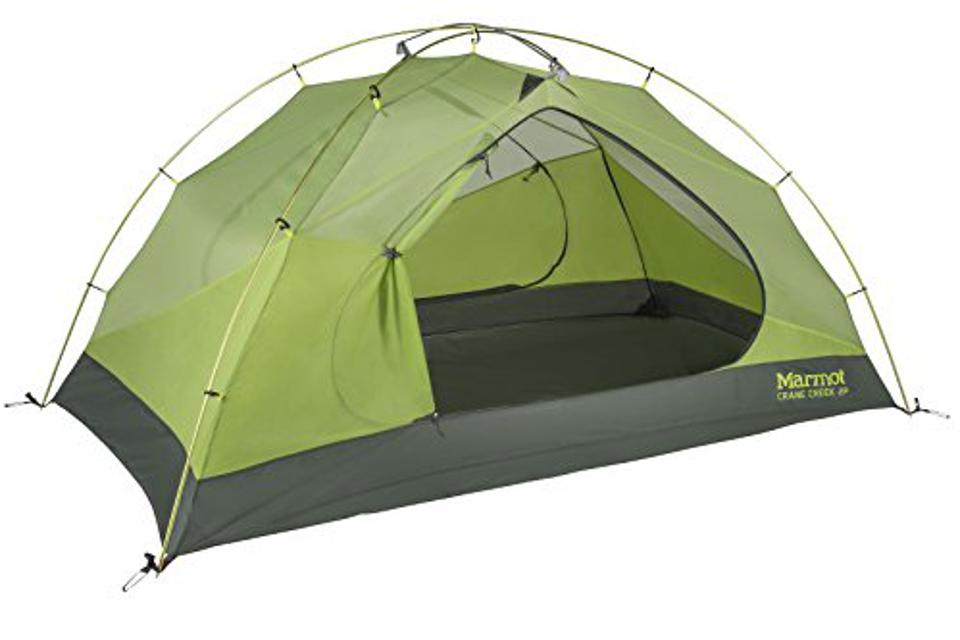 A two-person tent.