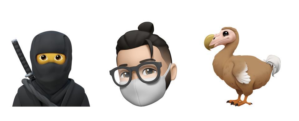 Three of this year's Emoji and Memoji newcomers