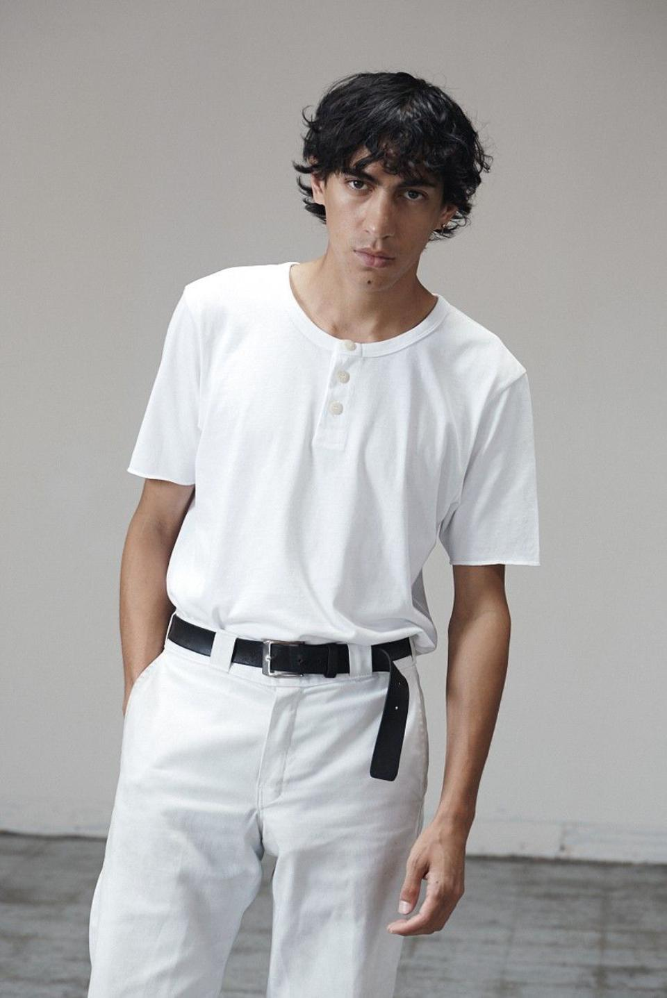 For Days Vintage Henley in White