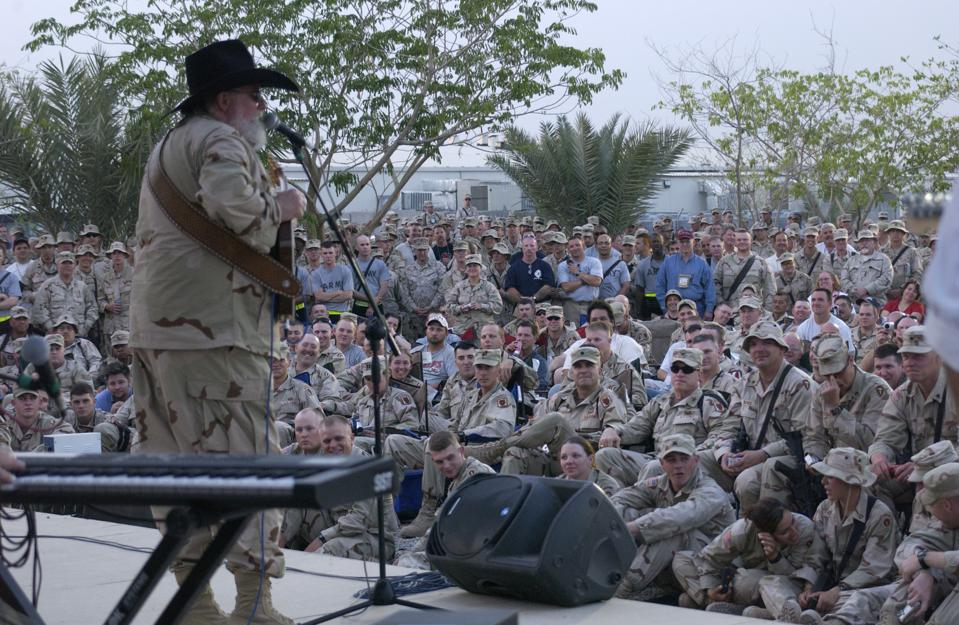 Charlie Daniels at Camp Victory in Iraq